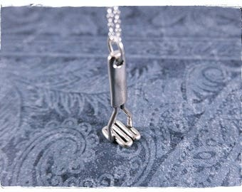 Silver Potato Masher Necklace - Sterling Silver Potato Masher Charm on a Delicate Sterling Silver Cable Chain or Charm Only