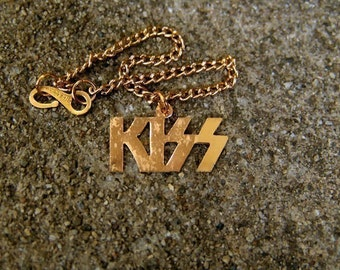 1977 KISS Rock-N-Roll Bracelet Die-cut GOLD