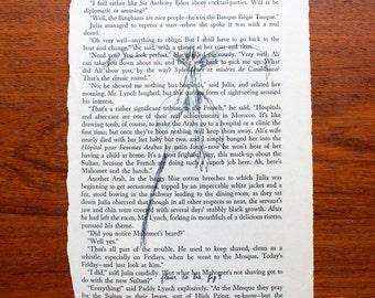 Fleur De Lis Book Page Print