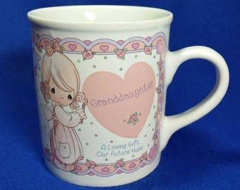 Precious Moments Granddaughter Mug/Vintage Precious Moments/Gift for Granddaughter/Granddaughter Mug/Granddaughter