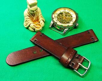 Handmade watch strap, Brown Itallian Leather Watch Strap 20mm, Leather watch strap, Unisex watch strap, 20mm Watch band, Watch band