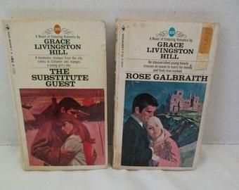 Grace Livingston Hill Lot 2 Paperbacks by Bantam Book Substitute Guest Rose Galbraith