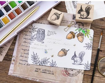 Forest - Wooden Rubber Stamp