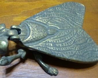 Vintage Brass Fly Ashtray
