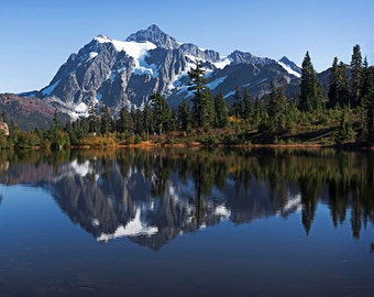 Fall Scene Mt. Baker National Forest, Fall Image, Mt Shuksan, Picture Lake,