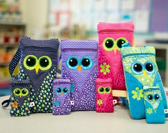 EpiPen Case, Asthma Case, Owl Medicine Pack / Epi-Pen Case / Diastat Case / Asthma Case / Doll Girl Set Purse by Alert Wear