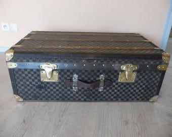 R491 checkerboard Moynat cabin trunk