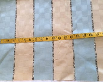 SOHO STRIPE - An Authentic Waverly Screen Print - Blue, Tan, and Black 1 3/4 yards
