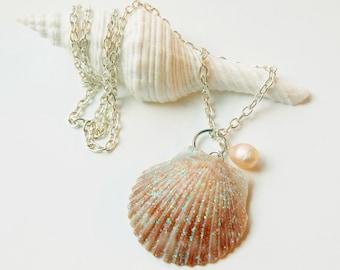 Seashell Jewelry - Scallop Shell - Real Shell Jewelry - Seashell Necklace - Beach Jewelry - Mermaid Jewelry - Ocean Jewelry - Sea Shells
