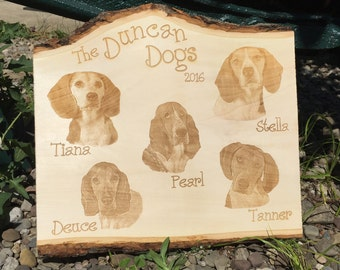 Custom Engraved Natural Basswood Plank