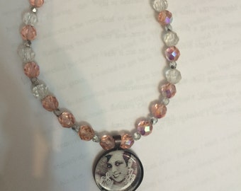 Josephine Baker All That Jazz Crystal Beaded Pendant Necklace