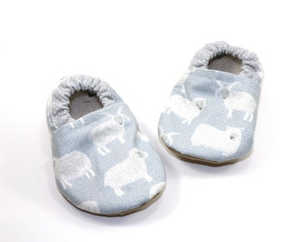Sheep baby shoes boy blue baby booties boy blue soft sole shoes toddler shoes vegan baby shoes crib shoes baby shower gift