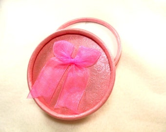 Jewelry box, 8.5 cm, pink