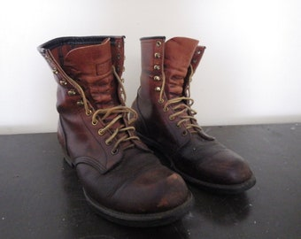 Red Wings Leather Boots Mens Size 8