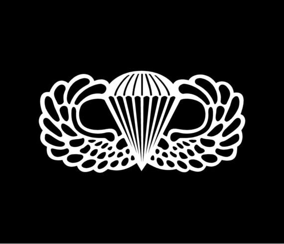 Jump wings Decal, veterans decal, Wings decal, jump wings, paratrooper decal, paratrooper decals,