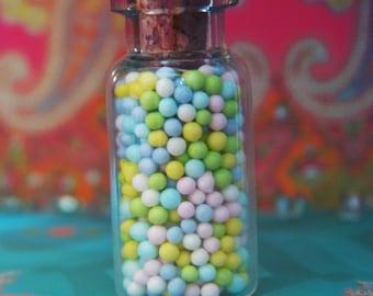 Pastel Spring Non Pariels Bottle Charm Necklace