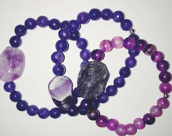 Mini Purple Druzy bracelet