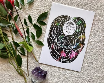 Art Print - Mama Galaxy - A4 archival quality paper