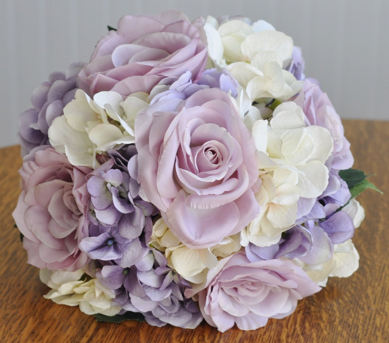 Silk wedding flower bouquet made with lavender roses lavender zoom izmirmasajfo