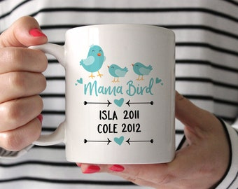Personalized Mothers Day Gift from Husband Mothers Day Gift from Kids Mom Gift Mom Birthday Gift for Mom from Daughter Coffee Mug Blue