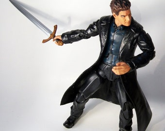 "CUSTOM 6"" David Boreanaz as ANGEL from Buffy The Vampire Slayer Action Figure Marvel Legends NECA McFarlane Style"