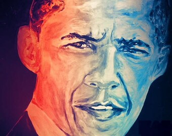 Obama 8x10 Wood Panel