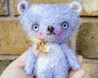Payne the Mohair teddy bear by Woollybuttbears