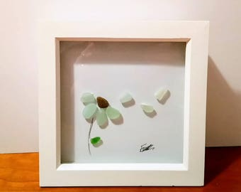 Seaglass picture.  Wind flower