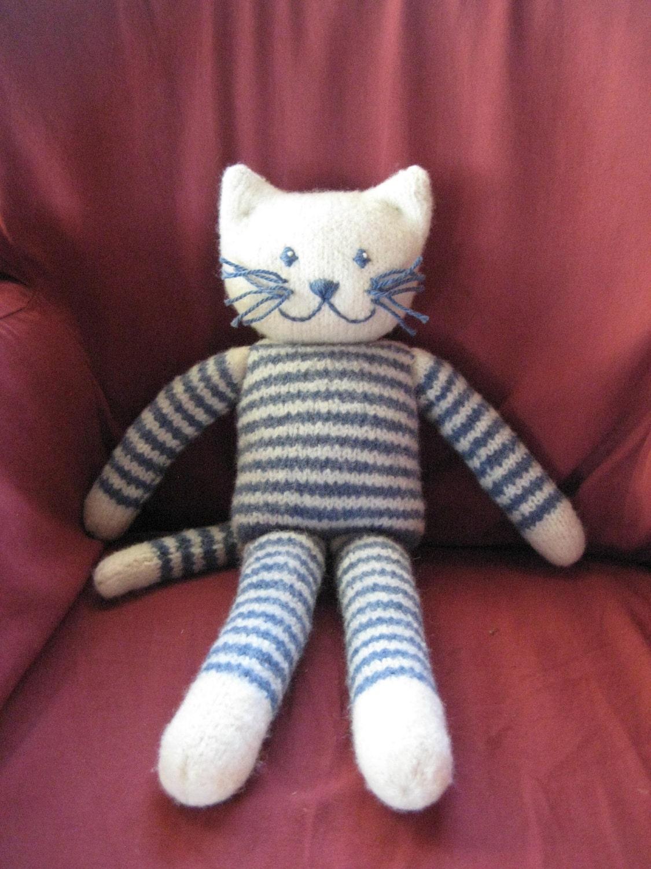 Plush Felted Kitty PDF Knitting Pattern, Cat stuffed toy, plushie ...