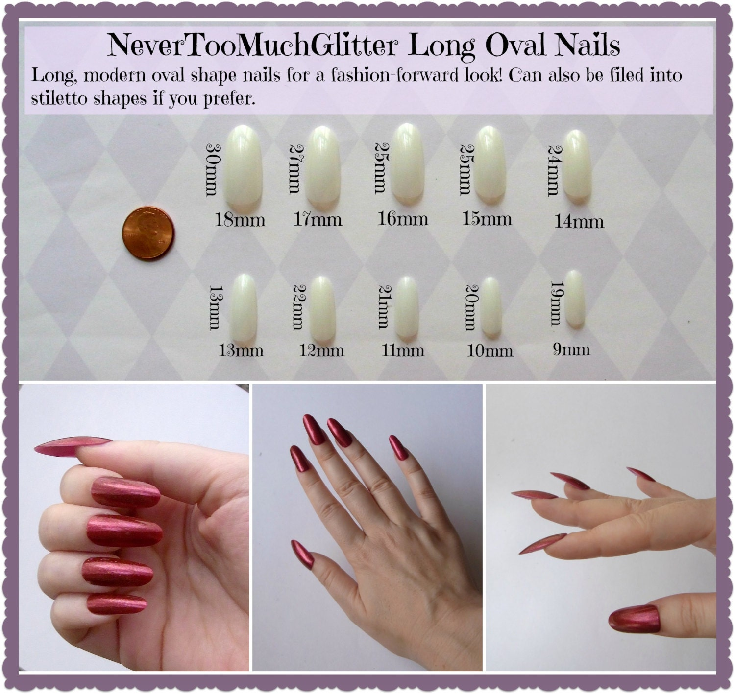 3D Gothic Spider Press On Nails | Spider Nails | Chain Fake Nails ...