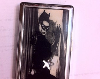 Eartha Kitt Catwoman 2-clip Cigarette Wallet I.D. Money Case Business Credit Card Holder