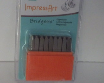 Impressart Bridgette Uppercase Metal Alphabet and Number 3mm 27 Piece Set