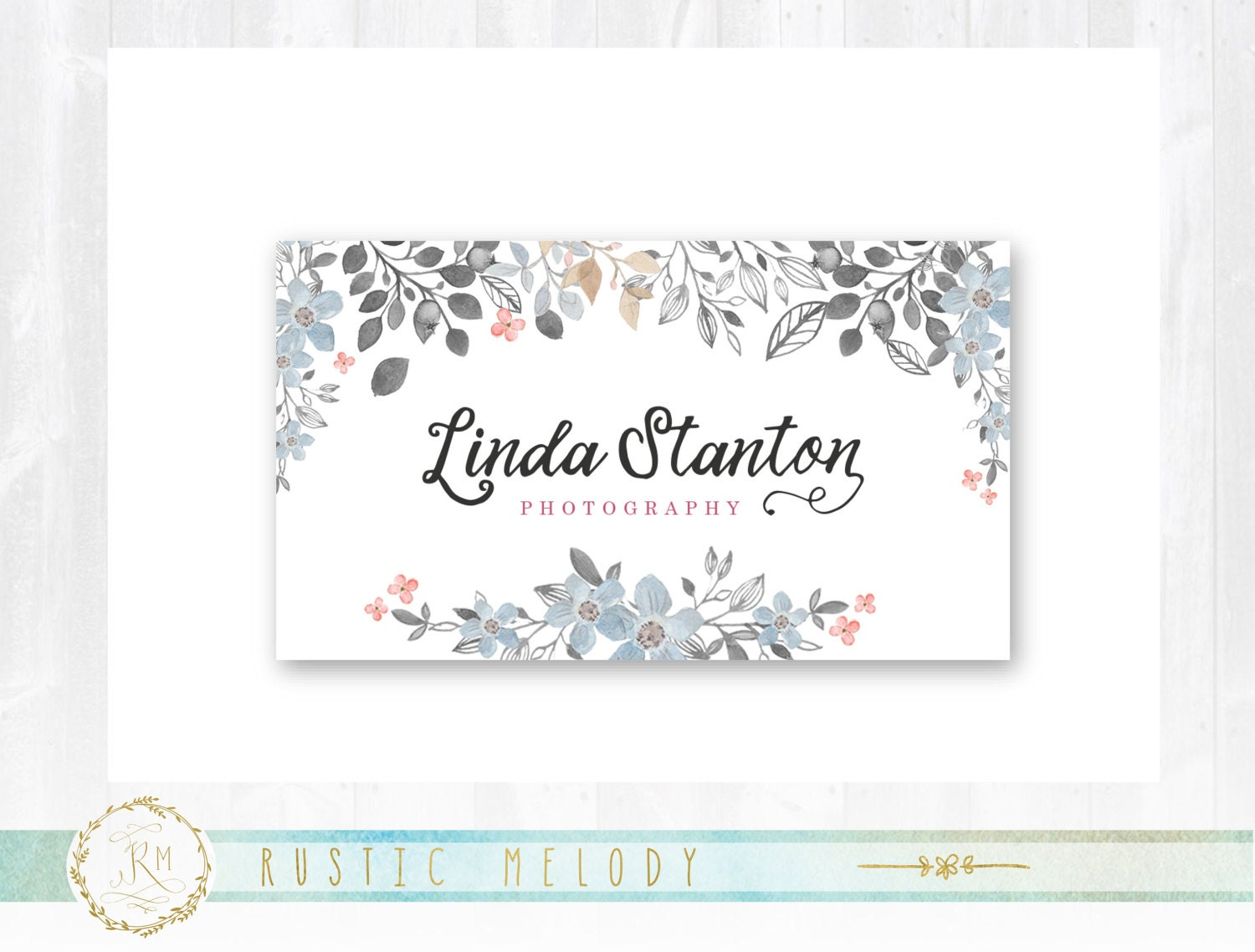 Premade Business Card, Floral Business Card , Photography Business ...