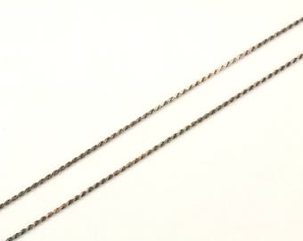 Vintage Italy Rope Chain Necklace 925 Sterling NC 1037