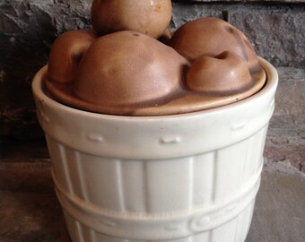 McCoy Cookie Jar Potato Basket Mc Coy Vintage Pottery - #3633