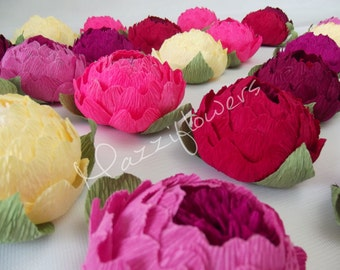 Bridal flower, wedding flowers, bridal flower, peony pink, paper flower, table decoration,peony paper 25 pcs,bridal peonies,wedding decor,