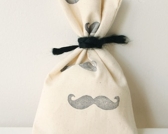 MOUSTACHE Favour Bags - Mustache moustache theme, little man, MUSTACHE treat bag, mustache favour bag x 10