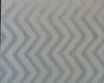 Vertical Zig Zag Pattern Fabric in Light Gray Color