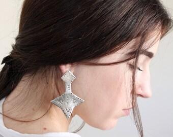 Tuareq earrings silver earrings boho earrings statement earrings tuareq jewelry handmade silver jewelry gift for her gypsy jewelry