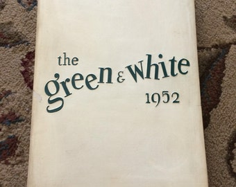 Vintage 1952 Inglewood High School Year Book, The Green and White