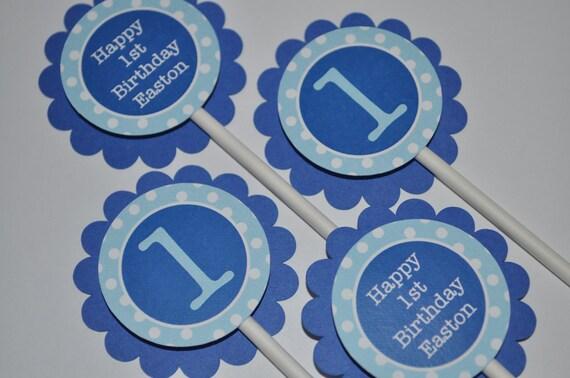 Birthday Party Favor Tags Boys 1st Birthday Favors Dark