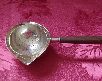 20s SILVER BAR TOOL - Geb. Dehyle - Jigger - Sieve - measuring cup - Germany - original - Hand Made - Art Nouveau