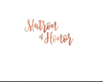 matron of honor rose gold foil clip art svg dxf file instant download silhouette cameo cricut digital scrapbooking commercial use