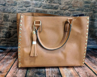 Monogram Leather Studded Purse