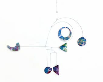 Art Mobile Ceiling Reminiscent of a Weather Vane READY TO SHIP Calder Inspired Nursery Mobile Baby Mobile Geometric Mobile