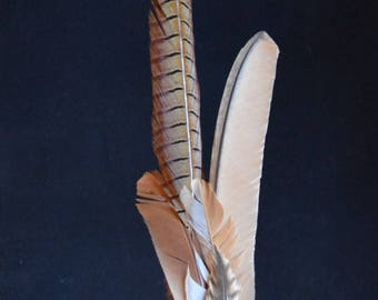 Ceremonial Smudge Fan made with cruelty free feathers for cleansing, purifying, recharging, meditation and spiritual work