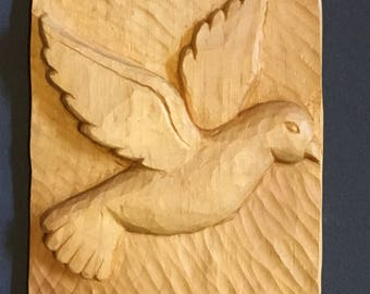 Peace Dove Woodcarving