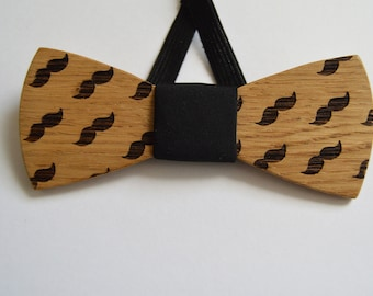Wedding Bow Tie mustache, Wood Bow Ties for Men, wooden bow tie, wood bow tie,groomsmen gift, Wood Bow Ties