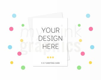 Set of 2 - 5X7 Card Mockup Bundle, 5x7 Card Mockup Birthday Card Invitation Mockup, Card Mockup, Styled Stock Photo White Envelope - MPG106