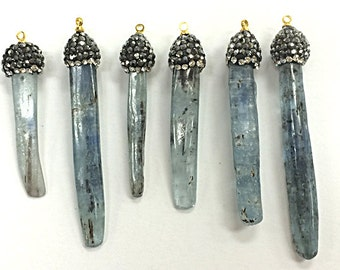 pendant selenite plated silver ebay dangle bhp crystal kyanite tourmaline
